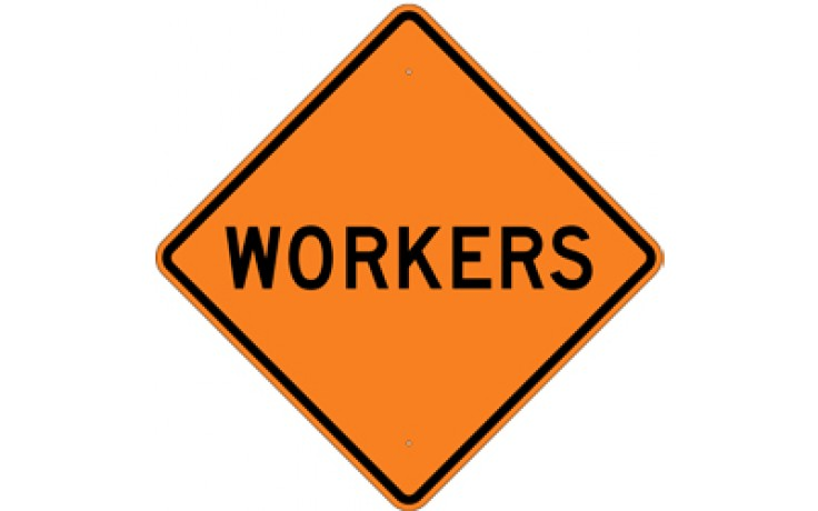"Workers (2) - Construction Signs - 36""x36"""