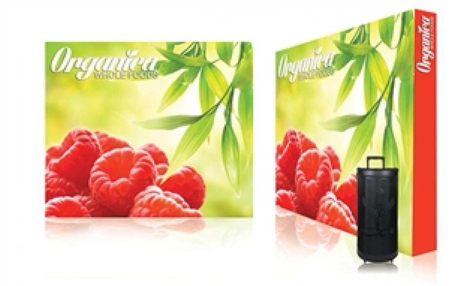 8x10 Straight Pop Up Display with Graphic (Dye Sublimated)