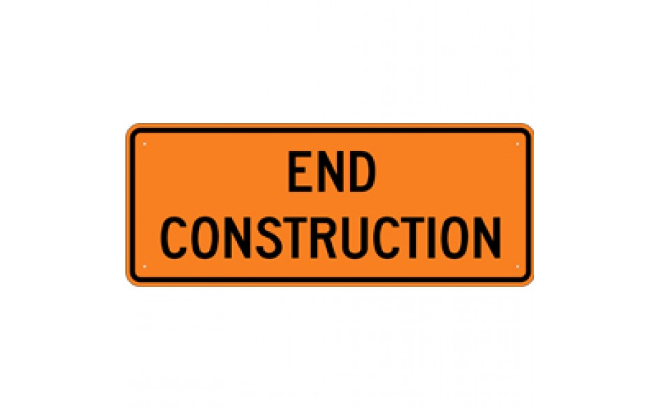 "Construction Zone (2) - Construction Signs - 60""x24"""