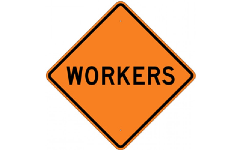 "Workers (3) - Construction Signs - 48""x48"""