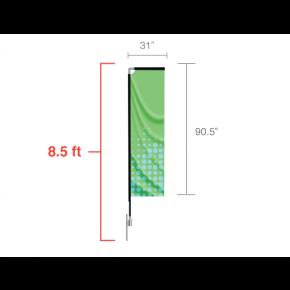 Rectangle Flag - Small / Single Side