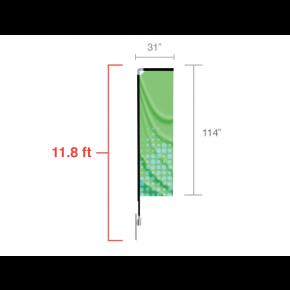 Rectangle Flag - Medium / Single Side
