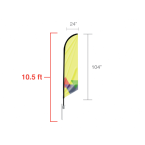 Feather Angled Flag - Medium / Single Side