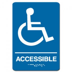 Indoor Braille ACCESSIBLE Sign