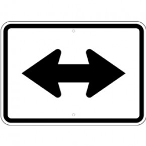 """Informational Arrow 5 - 21""""x15"""""""