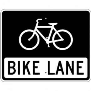 "Bicycle Sign 2 - 30""x 24"""