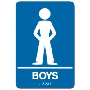 Indoor Braille BOY'S RESTROOM Sign