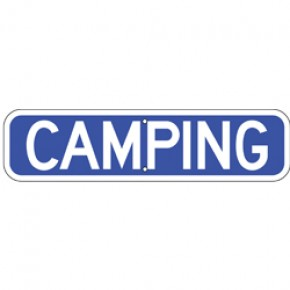 "Camping Sign 2 - 24""x6"""
