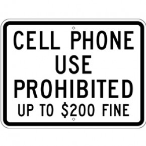 "Cell Phone Sign 1 - 24""x18"""