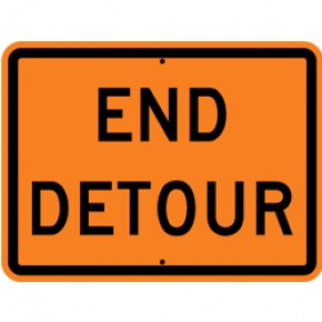 "DETOUR (3) - Construction Signs - 24""x18"""