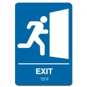 Indoor Braille EXIT Sign