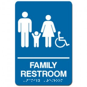 Indoor Braille FAMILY RESTROOM Sign