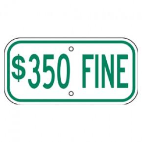 "Handicap Fines 10 - 12""x6"""