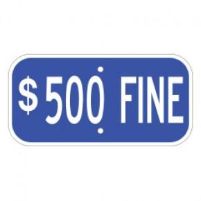 "Handicap Fines 5 - 12""x6"""