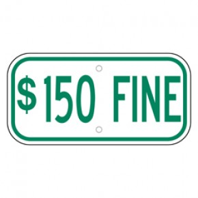 "Handicap Fines 7 - 12""x6"""