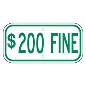 "Handicap Fines 8 - 12""x6"""