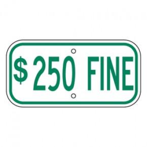 "Handicap Fines 9 - 12""x6"""