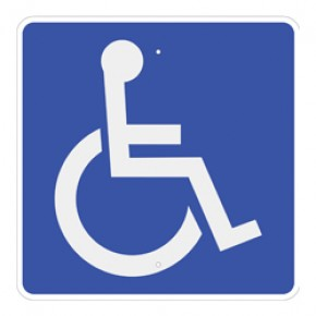 "Handicap Accessible Symbol 18""x18"""
