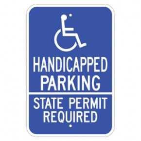 "Handicap Parking 4 - 12""x18"""