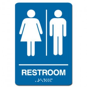 Indoor Braille JOINT RESTROOM Sign