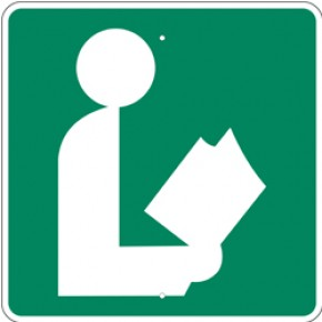 """Library Sign 1 - 24""""x24"""""""