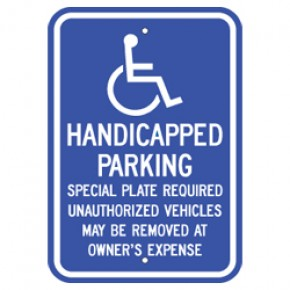 "Handicap - Massachusetts - 12""x18"""