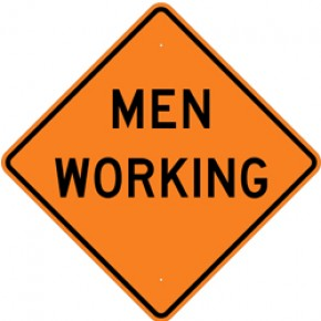 """Men Working (3) - Construction Signs - 48""""x48"""""""