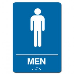 Indoor Braille MEN'S RESTROOM Sign