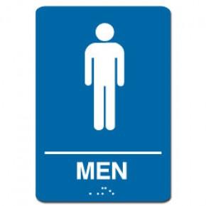 Indoor Braille MEN'S RESTROOM Sign