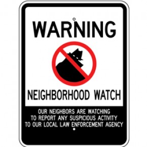 "Neighborhood Watch Sign 1 - 18""x24"""