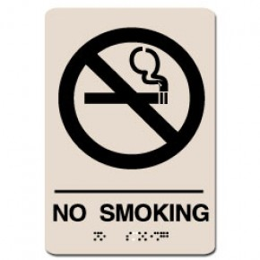 Indoor Braille NO SMOKING Sign