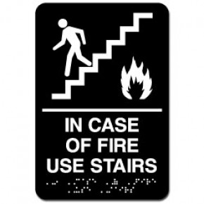 Indoor Braille STAIRS Sign
