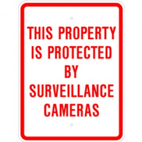 "Surveillance Sign 1 - 18""x24"""