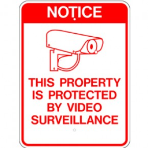 "Surveillance Sign 2 - 18""x24"""