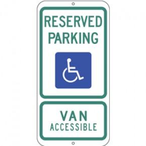 """Handicap - Texas - 12""""x24"""""""