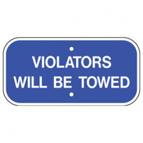 "Handicap Tow Sign - 12""x6"""