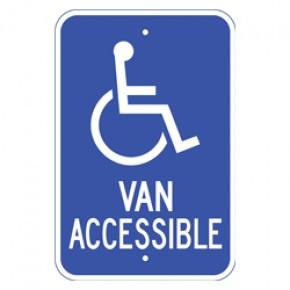 """Handicap Van Accessible 1 - 12""""x18"""""""