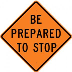 "Warning (3) - Construction Signs - 48""x48"""