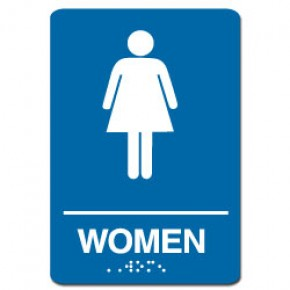 Indoor Braille WOMEN'S RESTROOM Sign