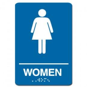Indoor Braille WOMEN'S RESTROOM Sign