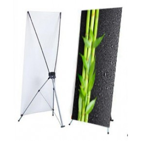"""X Stand - Small (24"""" x 63"""") with Graphics"""